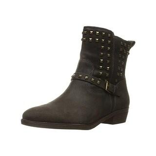 Lauren Ralph Lauren Womens Shaelynn Ankle Boots Leather Studded