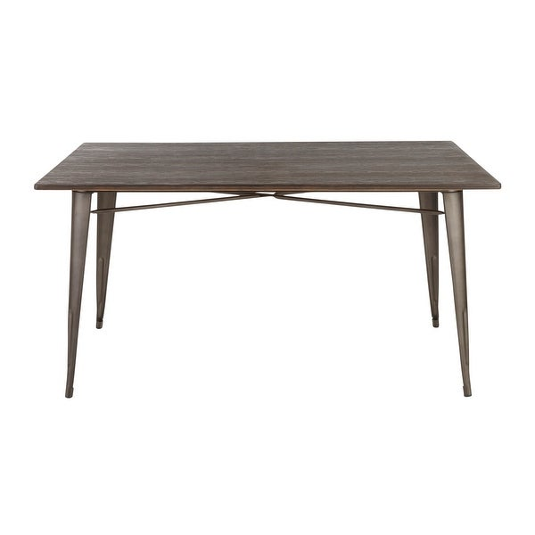 Carbon Loft Boyer Industrial Farmhouse 59-inch Dining Table. Opens flyout.