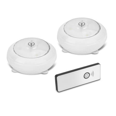 Wireless Pivot and Swivel LED Puck Lights with Remote Control