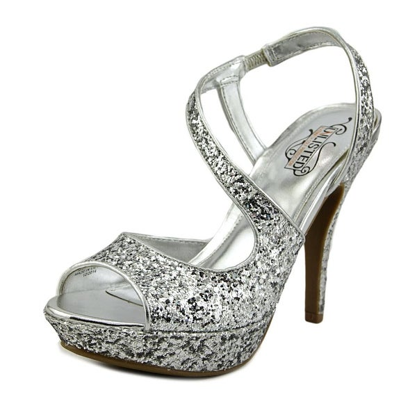 Unlisted Kenneth Cole Super Hour Women Open Toe Synthetic Silver Platform Sandal