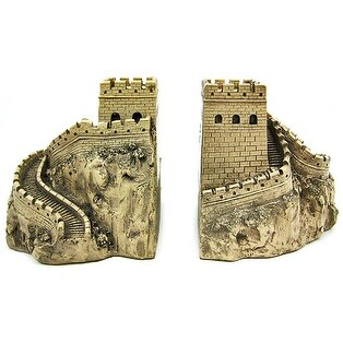 Great Wall Of China Sculptural Book Ends Bookends