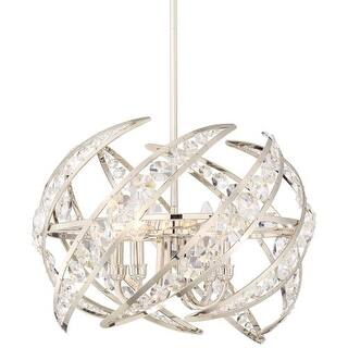 """Platinum PCCN2818 Crescent 4 Light 18"""" Wide Pendant with Clear Glass