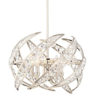 """Platinum PCCN2818 Crescent 4 Light 18"""" Wide Pendant with Clear Glass"""