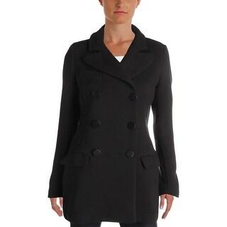 Aqua Womens Pea Coat Knit Long Sleeves - S