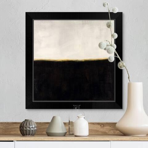 """Nocturnal Horizon"" Black Framed Print"