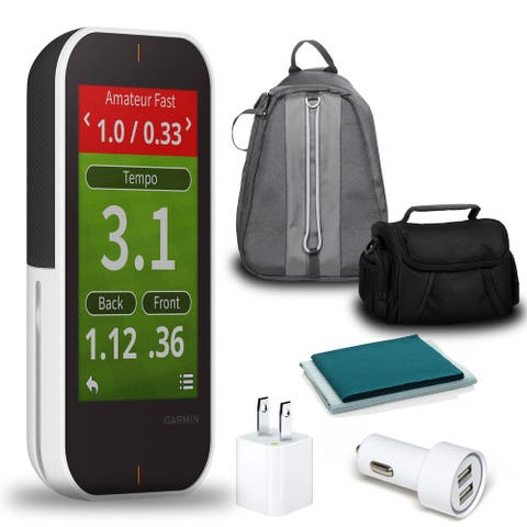 Garmin Approach G80 Handheld Golf GPS & Launch Monitor with 2-Port USB - Black