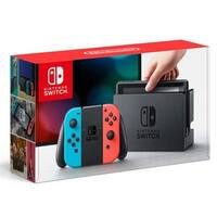 Nintendo Hacskabaa 32Gb Switch Console With Neon Blue And Red Joy Con