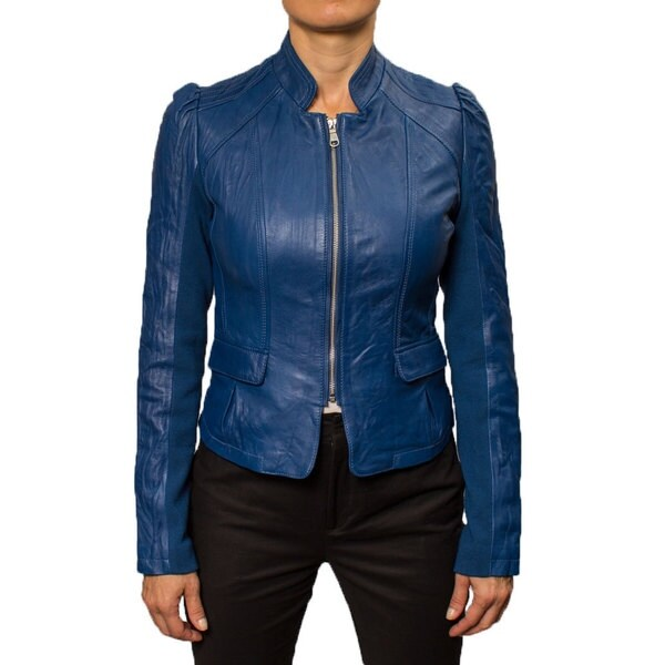 Buffalo Women's Princess Sleeve Leather Jacket