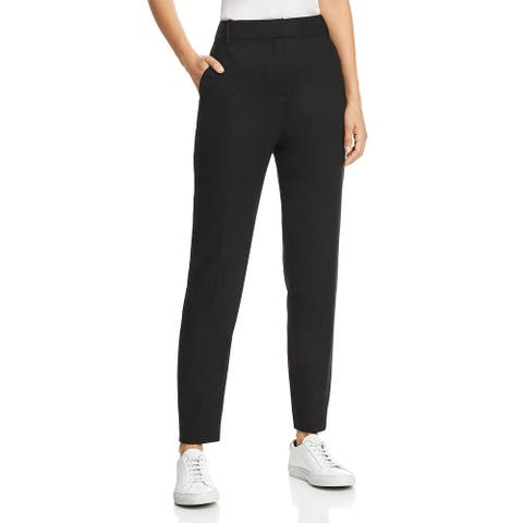 Equipment Womens Trouser Pants Wool Textured - Black