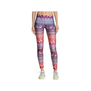 Zara Terez Womens Holiday Athletic Leggings Yoga Fitness