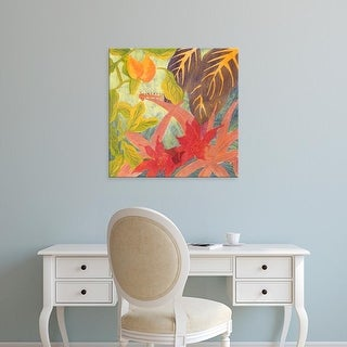 Easy Art Prints Carolyn Roth's 'Tropical Monotype IV' Premium Canvas Art