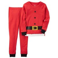 Carters Boys 12-24 Months Santa Cotton Pajama Set - Red