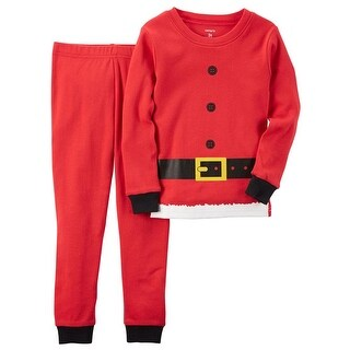Carters Boys 4-7 Santa Claus Pajama Set - Red