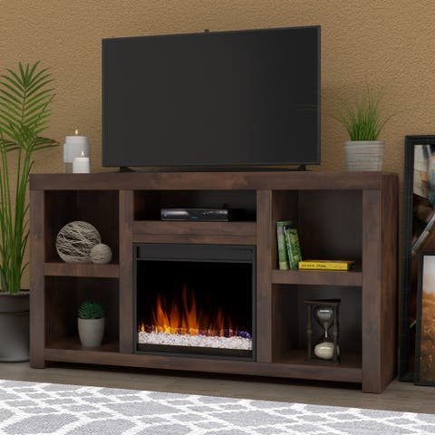 Carbon Loft Grimm 65-inch Whiskey Fireplace Console