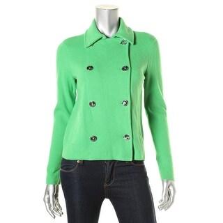 Lauren Ralph Lauren Womens Solid Metallic Buttons Jacket - S