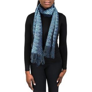 Missoni SC31VMD5177 0002 Blue/Turquoise Wool Blend Womens Scarf