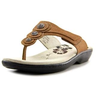 Propet Monica Women Open Toe Leather Bronze Thong Sandal