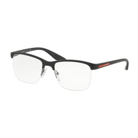Prada Linea Rossa PS 02LV 1BO1O1 54 Matte Black Man Pillow Eyeglasses
