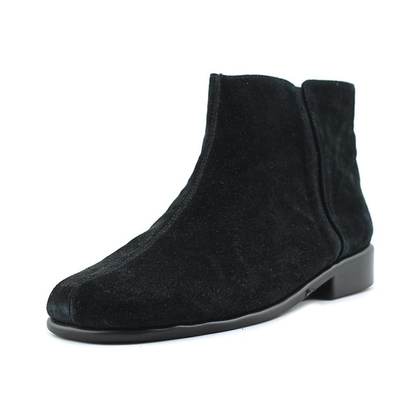 Aerosoles Duble Header Women Round Toe Suede Black Ankle Boot