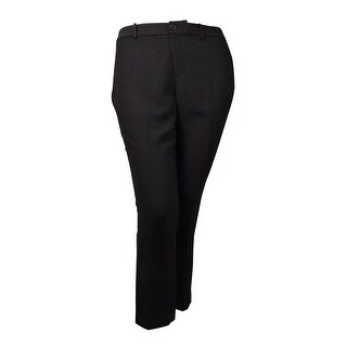 Lauren Ralph Lauren Women's Crepe Welt Pocket Dress Pants (14P, Black) - Black - 14P