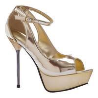 Ellie Women's Loren-567 Gold PU