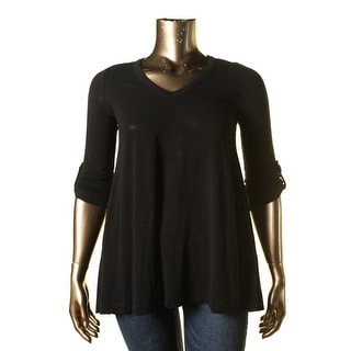 Nally & Millie Womens Tunic Top Knit High Low