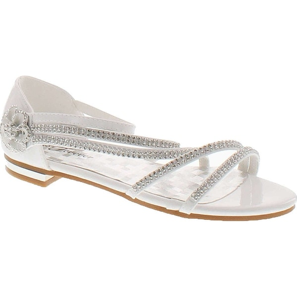 Forever Nora-68 Womens Open Toe Flat Wedding Party Dress Sandal Shoes
