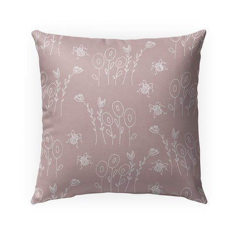 BUG PINK Indoor-Outdoor Pillow By Anne Cote
