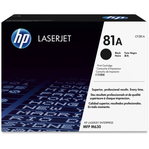 HP 81A Black Original LaserJet Toner Cartridge (CF281A)(Single Pack)