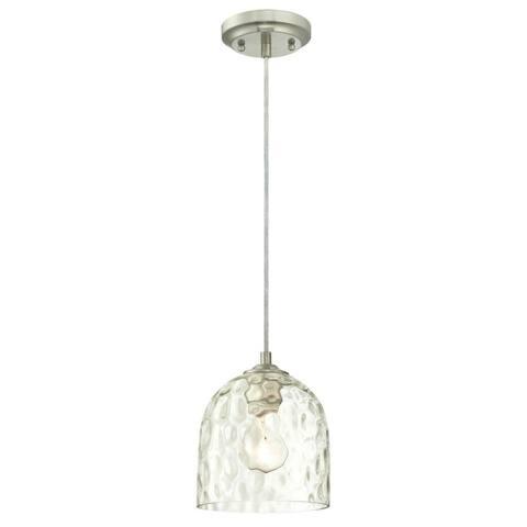 "Westinghouse 6328800 Single Light 6-11/16"" Wide Mini Pendant - Brushed Nickel"