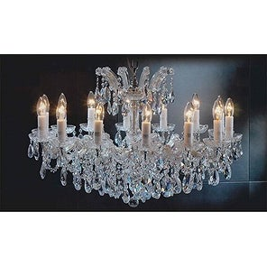 Maria Theresa Chandelier Crystal Lighting Trimmed With Spectra™ Crystal Gold