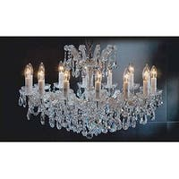 Maria Theresa Chandelier Crystal Lighting Trimmed With Spectra Crystal Gold