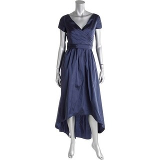 Adrianna Papell Womens Petites Evening Dress Satin Faux Wrap - 8P