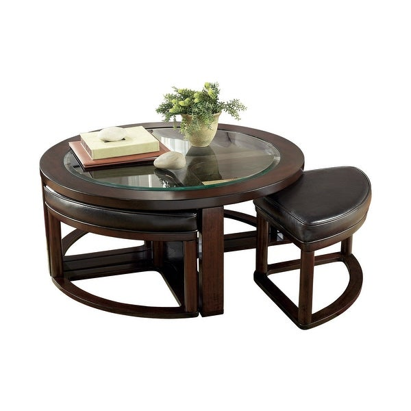 Ashley Glass Coffee Table.Shop Ashley Furniture T477 8 Marion Dark Brown Cocktail Table W 4