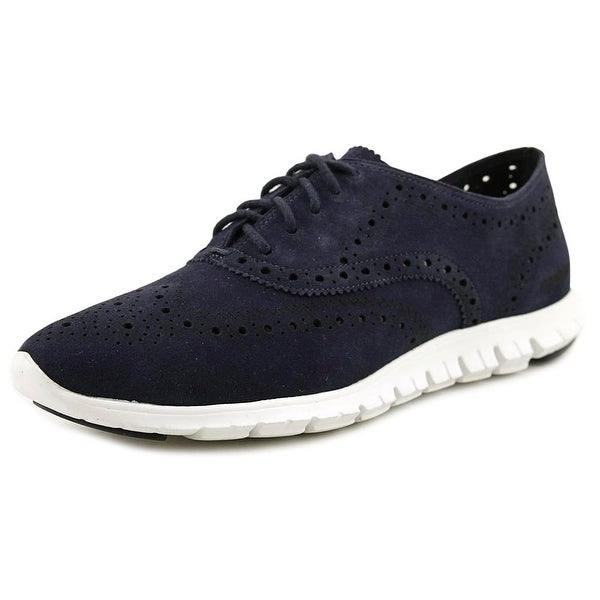 Cole Haan Zerogrand Wing Ox Women Round Toe Suede Blue Oxford