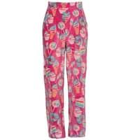 Candy Pink Girls Multi Color Rainbow Food Mixed Print Pajama Pants