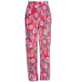 Candy Pink Girls Multi Color Rainbow Food Mixed Print Pajama Pants