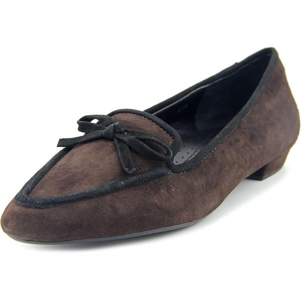Vaneli Gada Women N/S Pointed Toe Suede Brown Flats