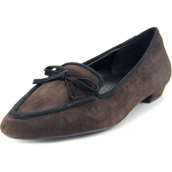 Vaneli Gada Women  Pointed Toe Suede Brown Flats