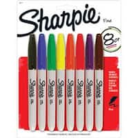 Sharpie Fine Point Permanent Markers Carded 8/Pkg-Assorted Colors