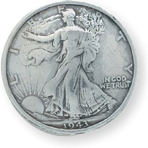 "Concho Silver Screwback 1.1875""-Liberty Half Dollar"