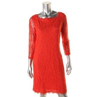 Diane Von Furstenberg Womens Zarita Lace Party Cocktail Dress - 8