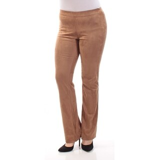 STUDIO M $88 Womens New 1105 Brown Faux Suede Flare Casual Pants M B+B