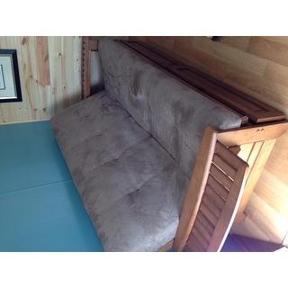 Somette Ali Phonics Honey Oak Full-Size Futon Set with Storage Drawers