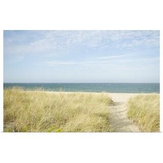 """Beach Path, Nantucket"" Poster Print"