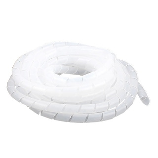 10mm x 6M Spiral Wrap Wrapping Band Wire Cable Zip Organizer White