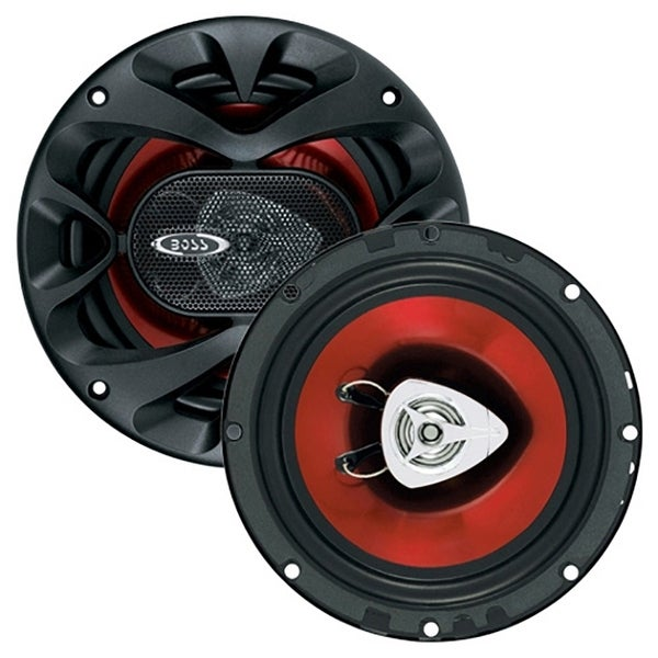 "Boss 6.5"" Slim Speaker 2-Way red poly injection cone"
