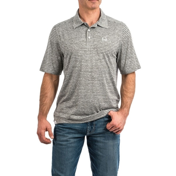 a18d61e8 Shop Cinch Western Shirt Mens Polo S/S Stripe Heather Gray - Free Shipping  Today - Overstock - 28388947