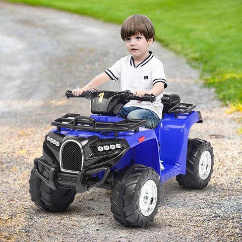 ATV Small Beach Bike with Music,6V 4.5AH Battery Operated