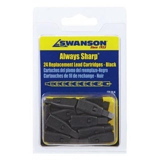 Swanson CPLBLK Mechanical Carpenter Pencil Replacement Tips, Black